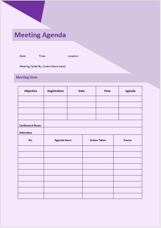 Informal Meeting Minutes Template Best Of Informal Meeting Agenda Template Microsoft Word Templates