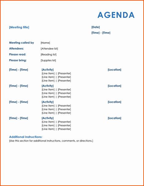 Informal Meeting Minutes Template Luxury 4 Informal Meeting Bookletemplate
