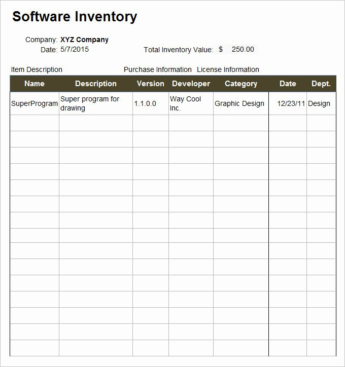 Information Technology Inventory Template Best Of It Inventory Template 15 Free Word Excel Documents