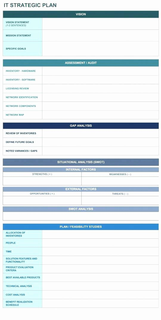Information Technology Planning Template Unique Hospital Information Technology Strategic Plan Example