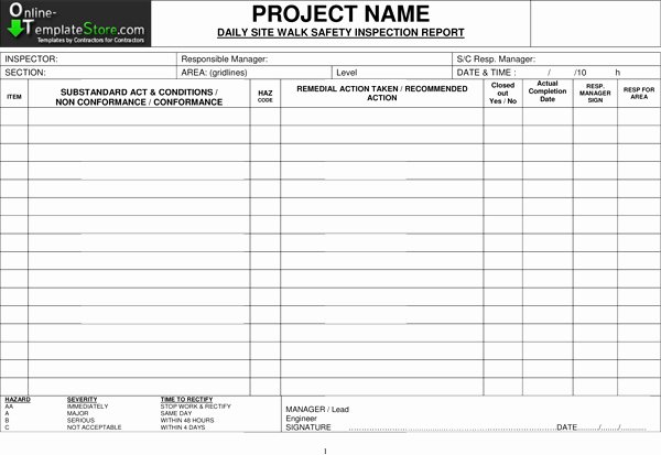 Inspection Checklist Template Excel Inspirational Free Templates Construction Template Store
