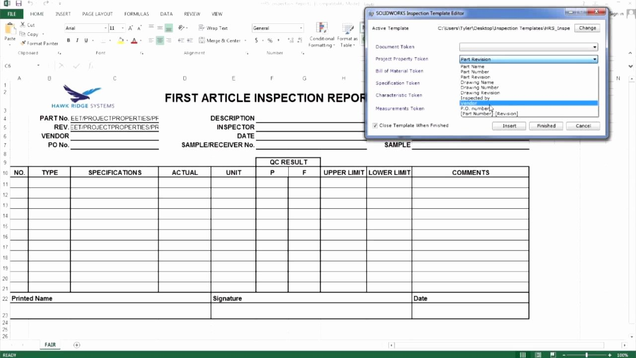 Inspection Checklist Template Excel Inspirational Reportpection Template In Excel Alberta Engineering for