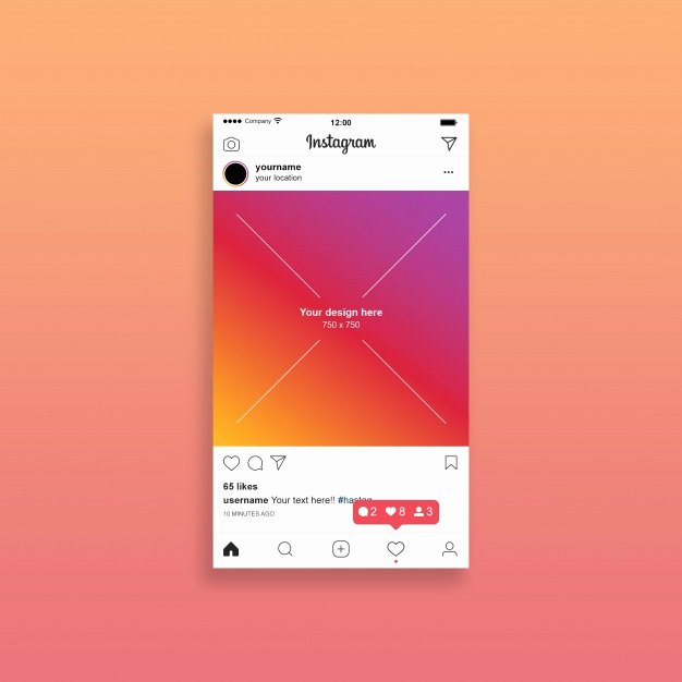 Instagram Post Template Psd Awesome Instagram Post Mockup Psd File