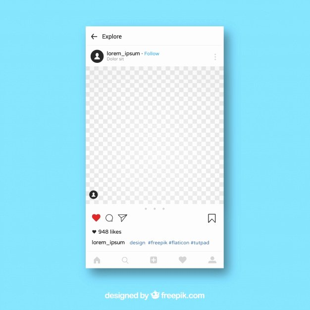 Instagram Post Template Psd Inspirational Instagram App Template Vector