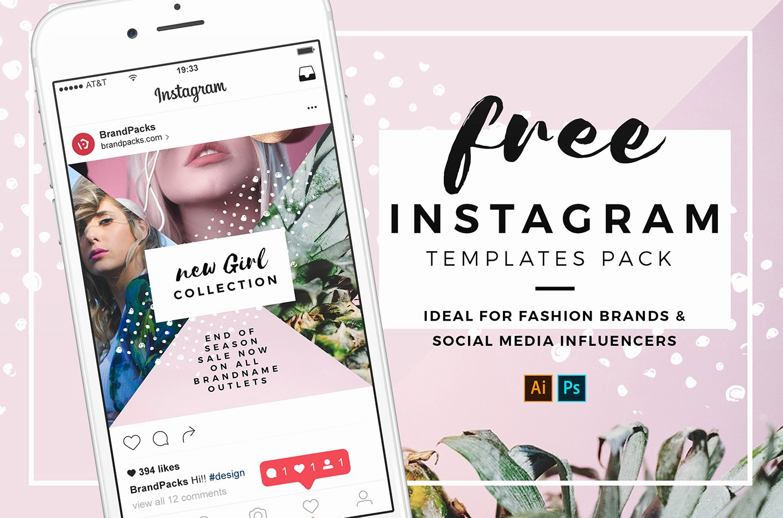 Instagram Post Template Psd Lovely Free Instagram Templates In Psd Ai & Vector Brandpacks