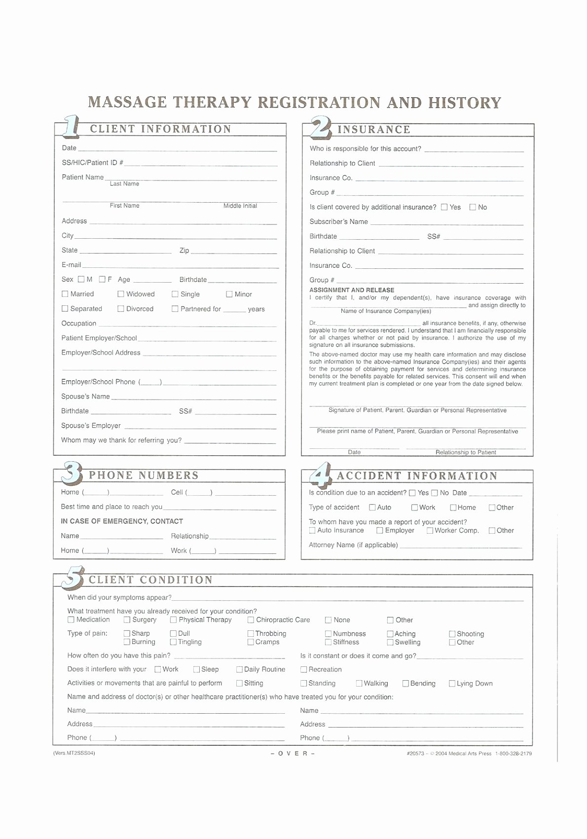 Intake form Template Word Awesome Massage Intake form Template Free Image Collections