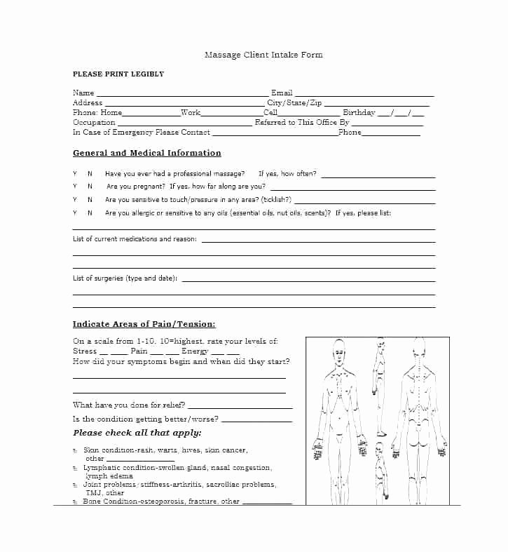 Intake form Template Word Awesome Patient form Template Word Free Personal Medical History