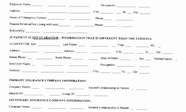 Intake form Template Word Unique Patient Intake Template Client Memo form Word – Superscripts