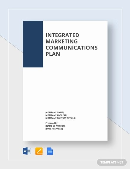 Integrated Marketing Plan Template Best Of Munication Plan Template 9 Word Pdf Documents
