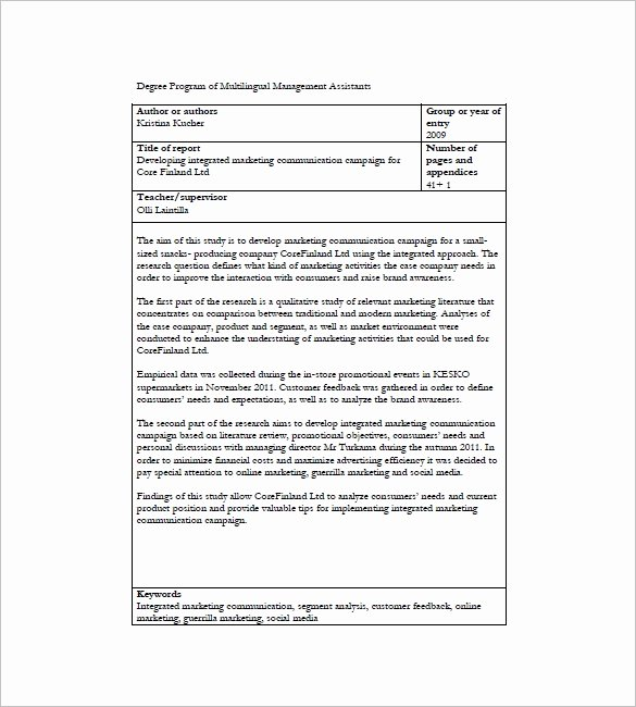 Integrated Marketing Plan Template Unique 10 Integrated Marketing Munication Plan Templates