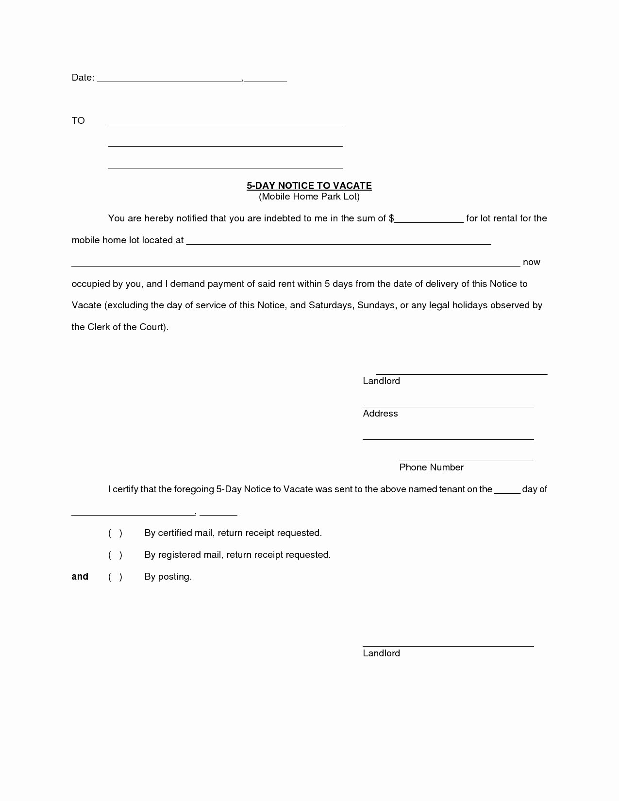 Intent to Vacate Template Unique Letter Intent to Evict Template Samples
