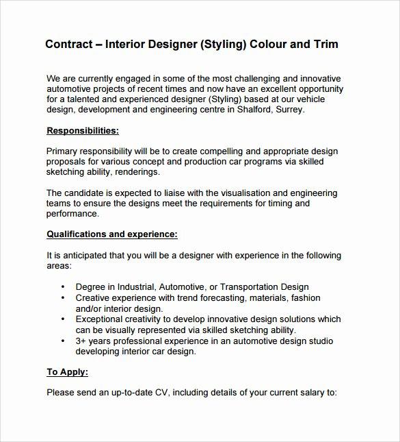 Interior Design Contract Template Fresh 11 Interior Design Contract Templates to Download for Free