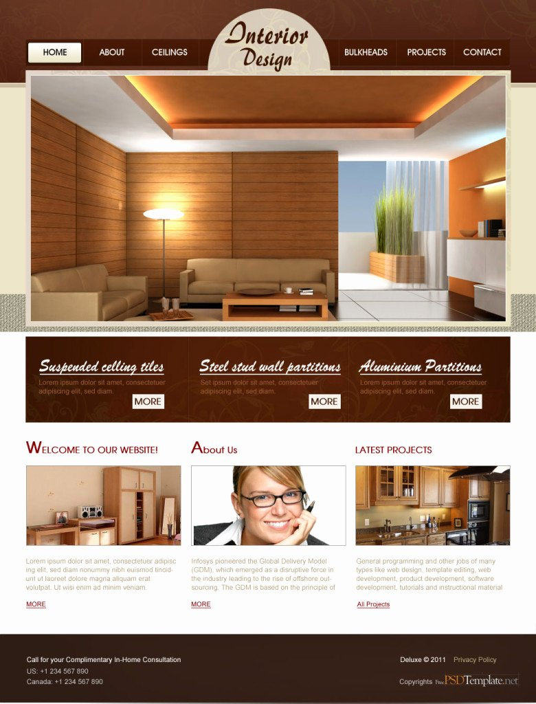 Interior Design Template Free Awesome 55 Practical Website User Interface Design Psd Best Ui