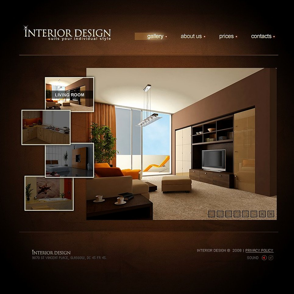 Interior Design Template Free Awesome Interior Design Flash Template