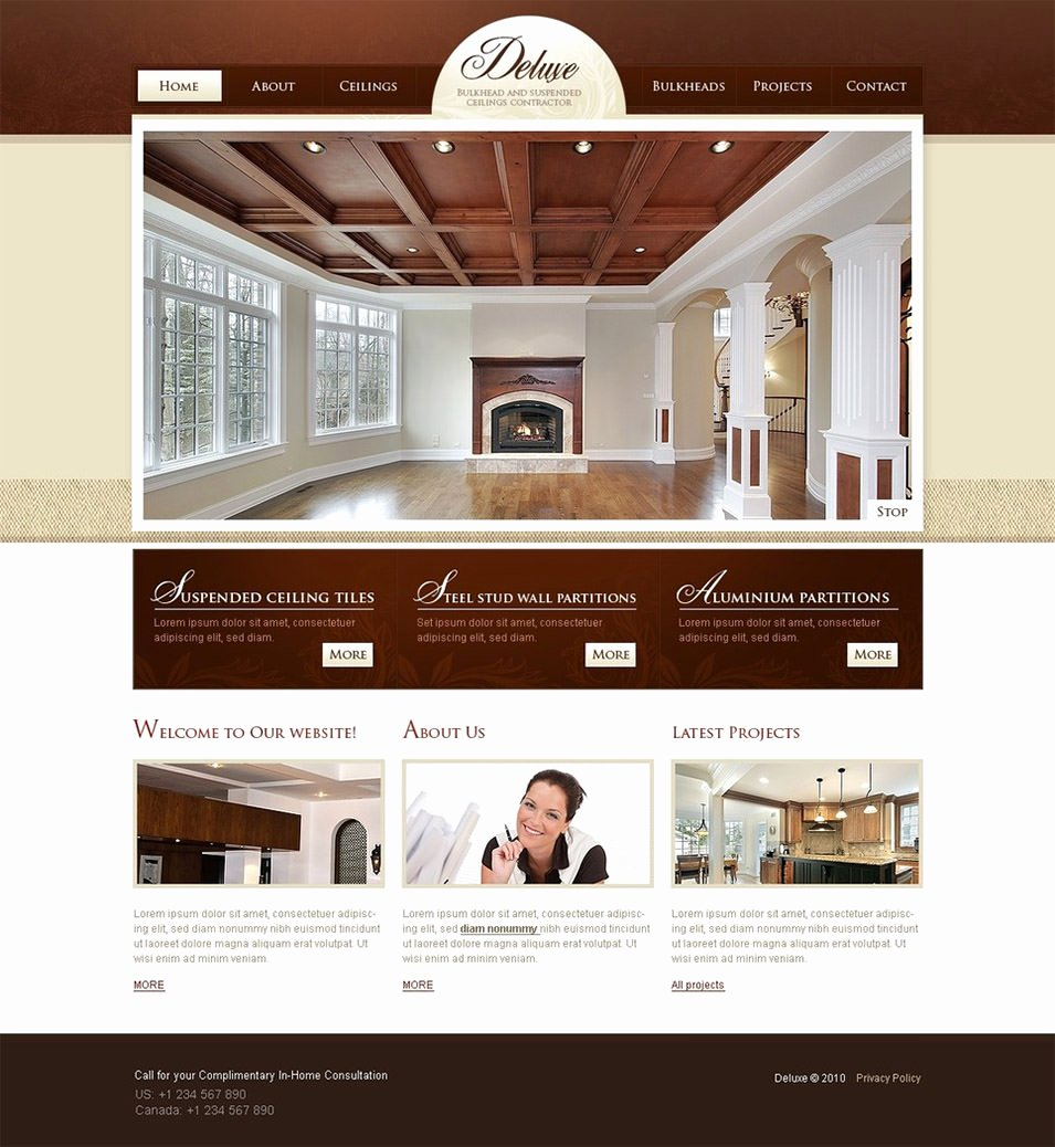 Interior Design Template Free Inspirational 6 Best Swish Interior Website themes & Templates