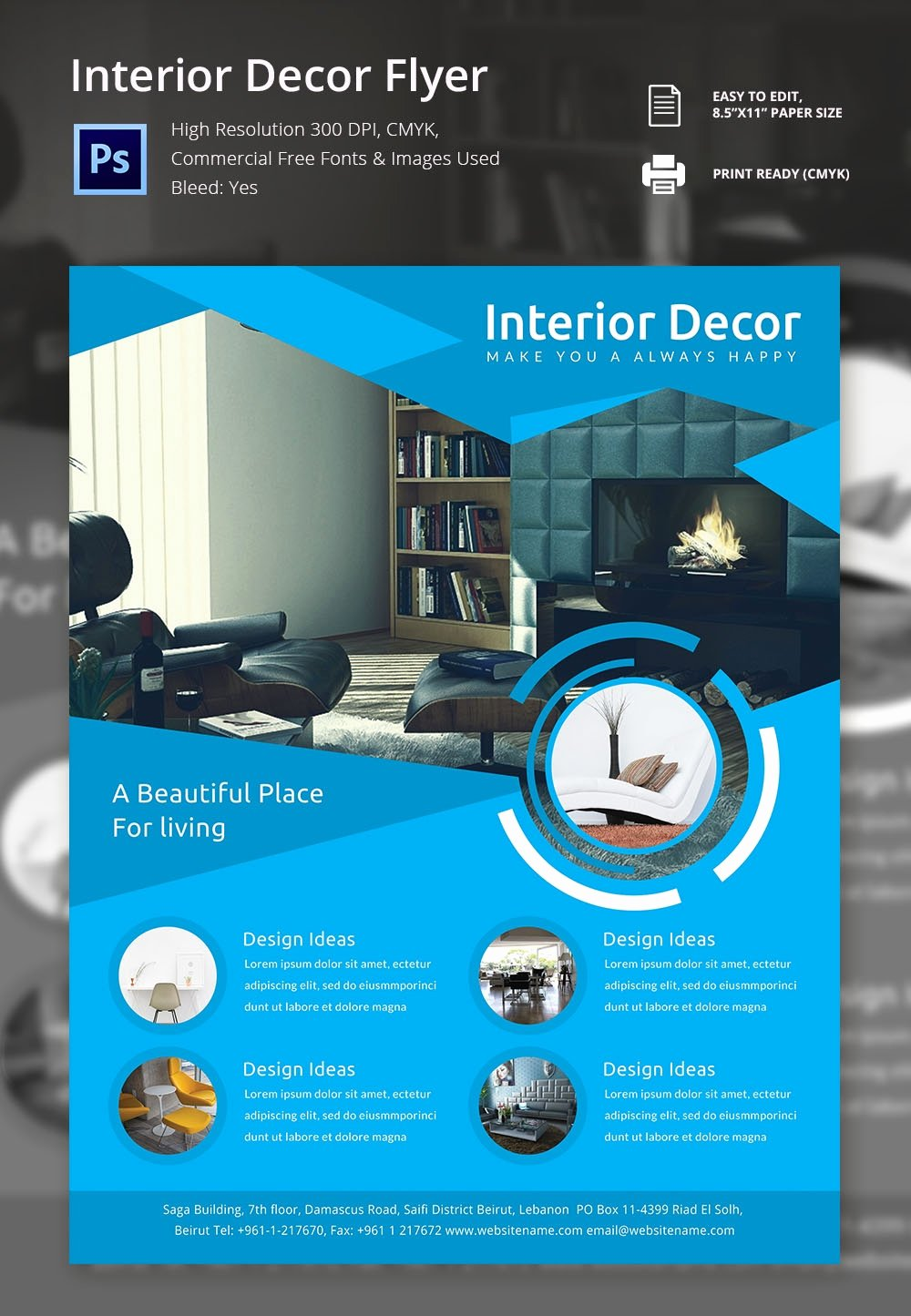 Interior Design Template Free New 17 Interior Decoration Brochure – Free Word Psd Pdf