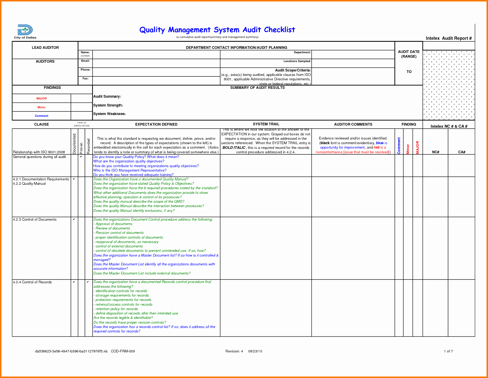 Internal Audit Report Template Awesome Sample Internal Audit Report Template