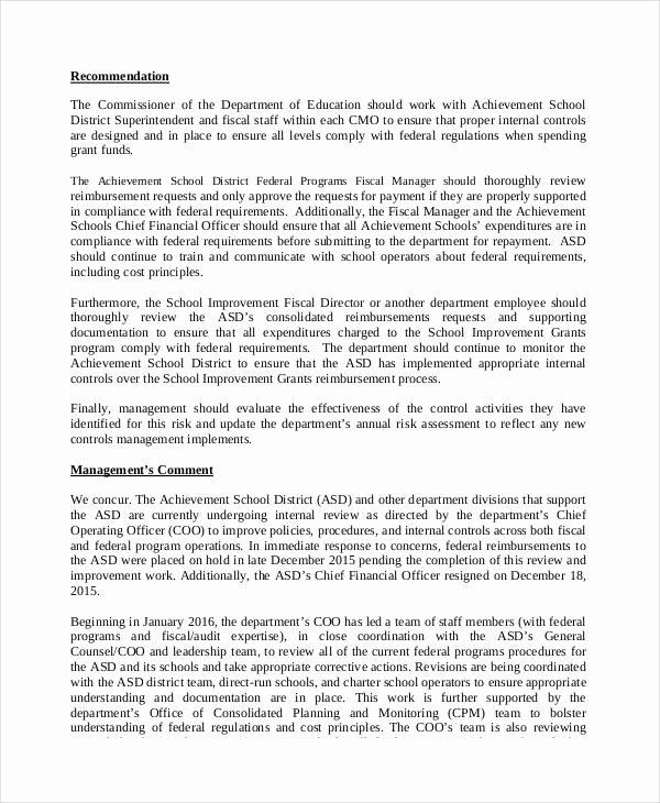 Internal Audit Report Template Unique 14 Audit Report Examples & Samples Pdf Doc