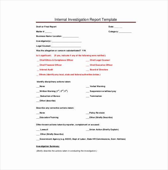 Internal Investigation Report Template Awesome 27 Investigation Report Templates Docs Apple Pages