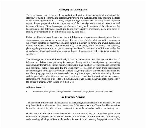 Internal Investigation Report Template Best Of Investigative Report Template