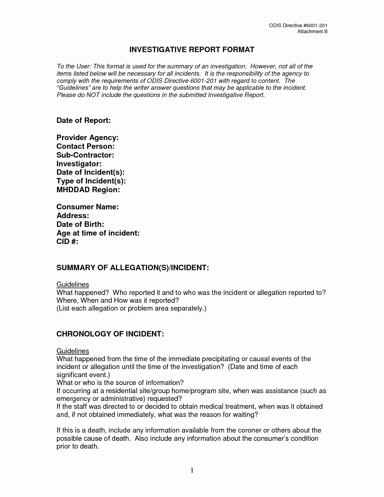 Internal Investigation Report Template Elegant Best S Of Investigation Report Template Sample