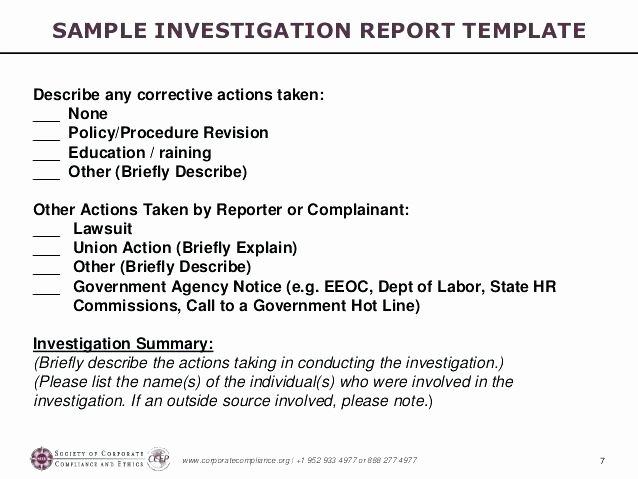 Internal Investigation Report Template Luxury Internal Investigation Report Template – Flybymedia