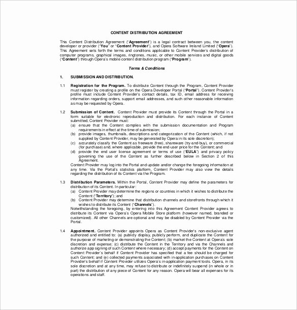 International Distribution Agreement Template Beautiful 20 Distribution Agreement Templates – Free Word Pdf