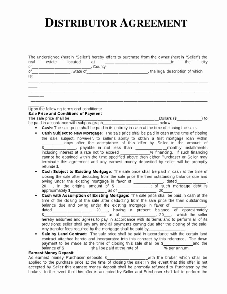International Distribution Agreement Template Beautiful 93 Simple Distribution Agreement Exclusive Distribution