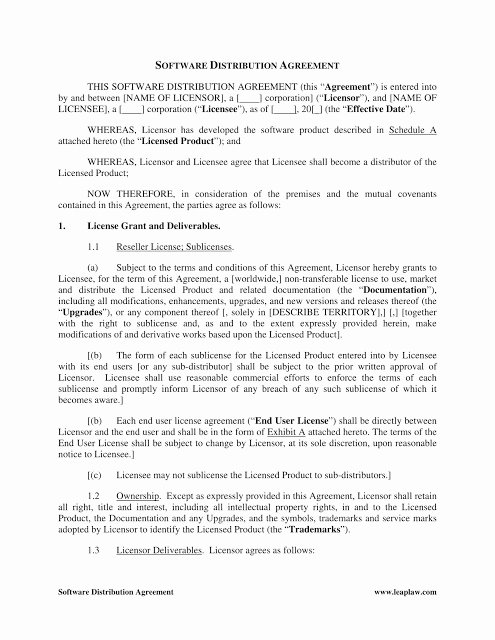 International Distribution Agreement Template Fresh Distributor Agreement Templates In Word format Excel