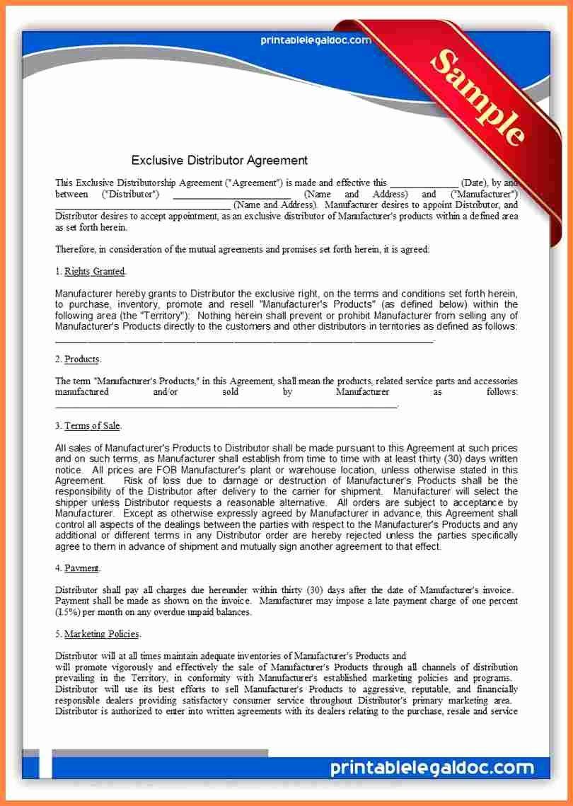 International Distribution Agreement Template Inspirational 10 Exclusive Distribution Agreement Template