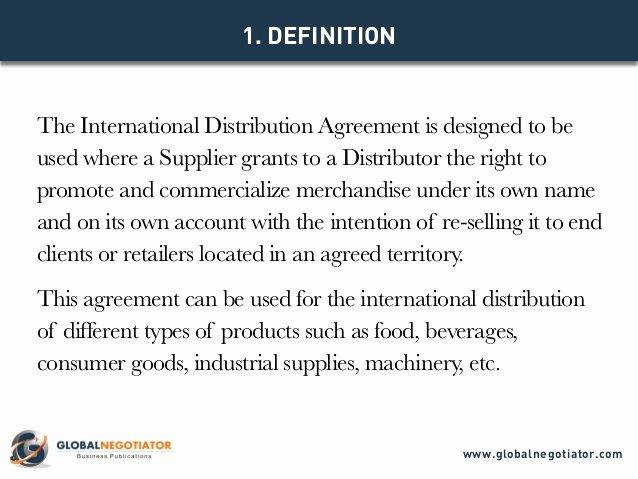 International Distribution Agreement Template Inspirational International Distribution Agreement Template