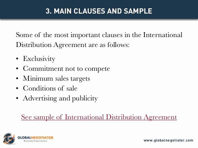 International Distribution Agreement Template New International Distribution Agreement Template