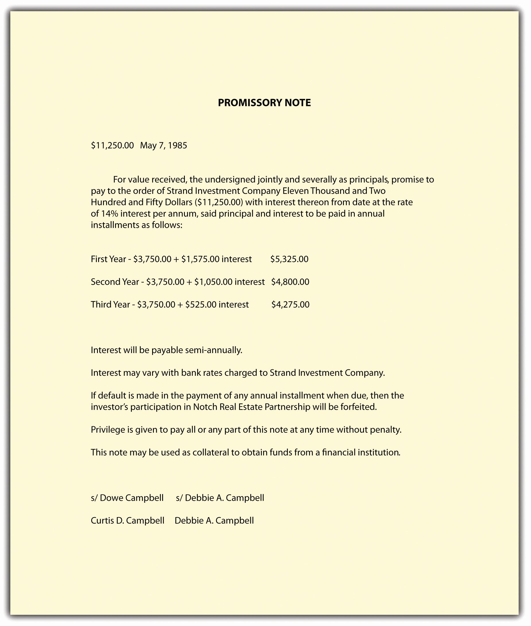 International Promissory Note Template Awesome Nature and form Of Mercial Paper