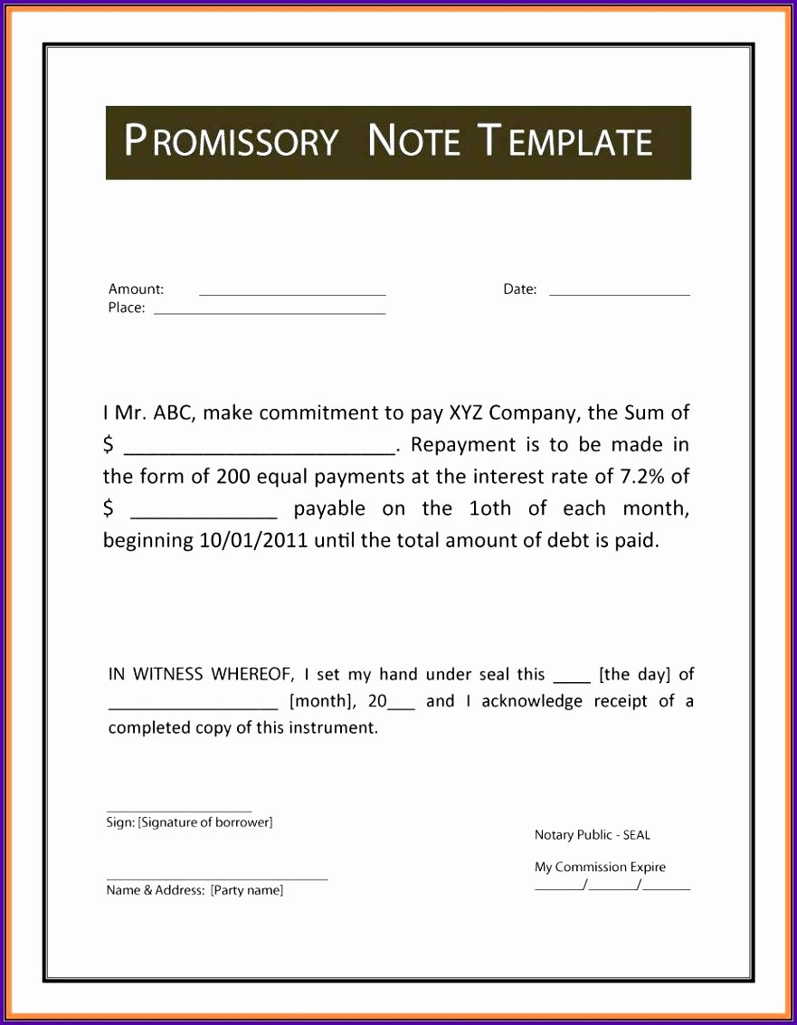 International Promissory Note Template Beautiful 5 International Promissory Note Template Tipstemplatess