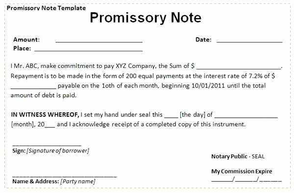 International Promissory Note Template Best Of Image Titled Write A Promissory Note Step 2 Letter Sample