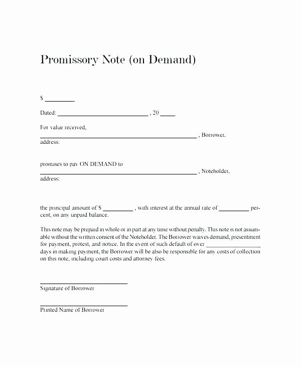 International Promissory Note Template Best Of Sample Negotiable Promissory Note 4 Example Useful Sence