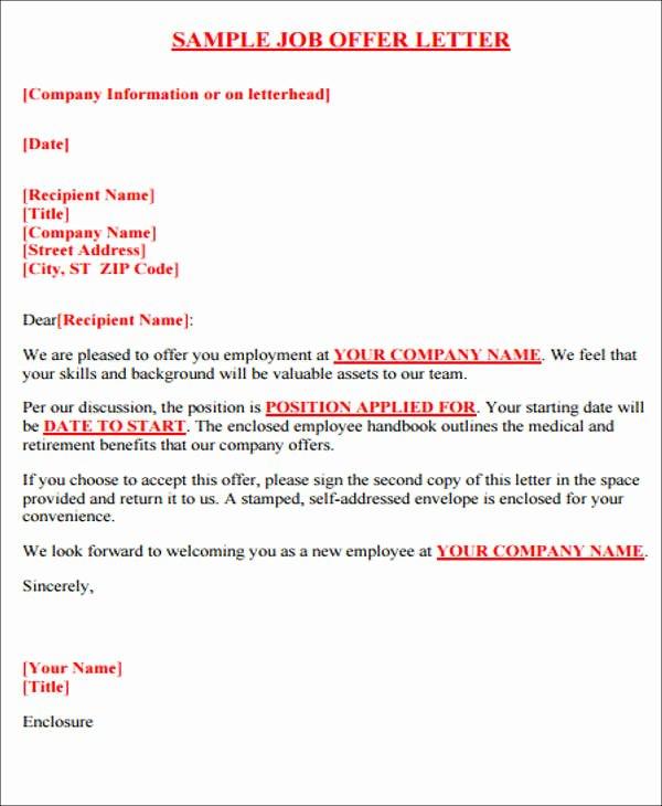 Internship Offer Letter Template Best Of 40 Fer Letter format Templates Pdf Doc