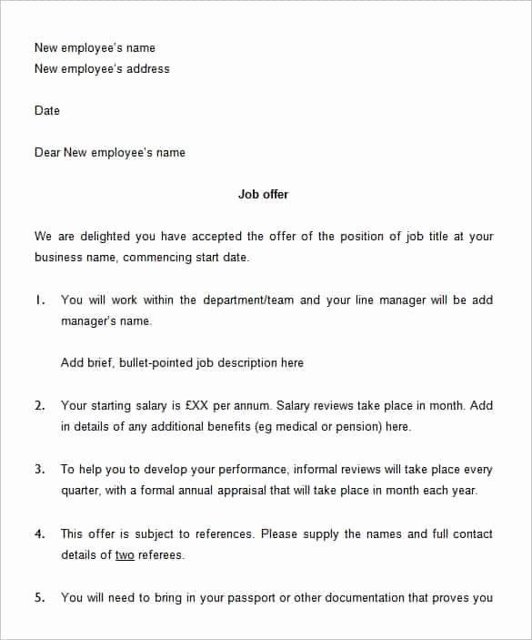 Internship Offer Letter Template Fresh 70 Fer Letter Templates Pdf Doc
