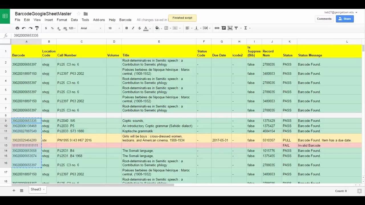 Inventory Template Google Sheets Elegant Barcode Inventory tool Google Sheets Version