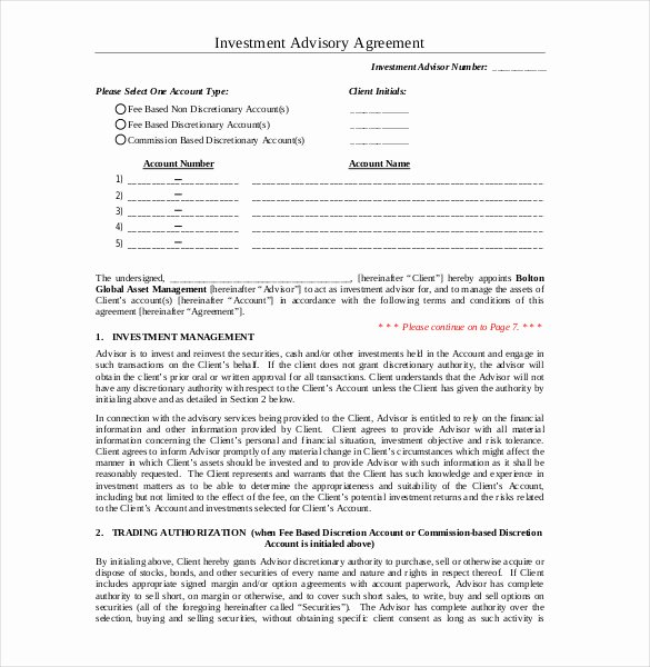 Investment Agreement Template Doc Unique 18 Investment Agreement Templates – Free Sample Example