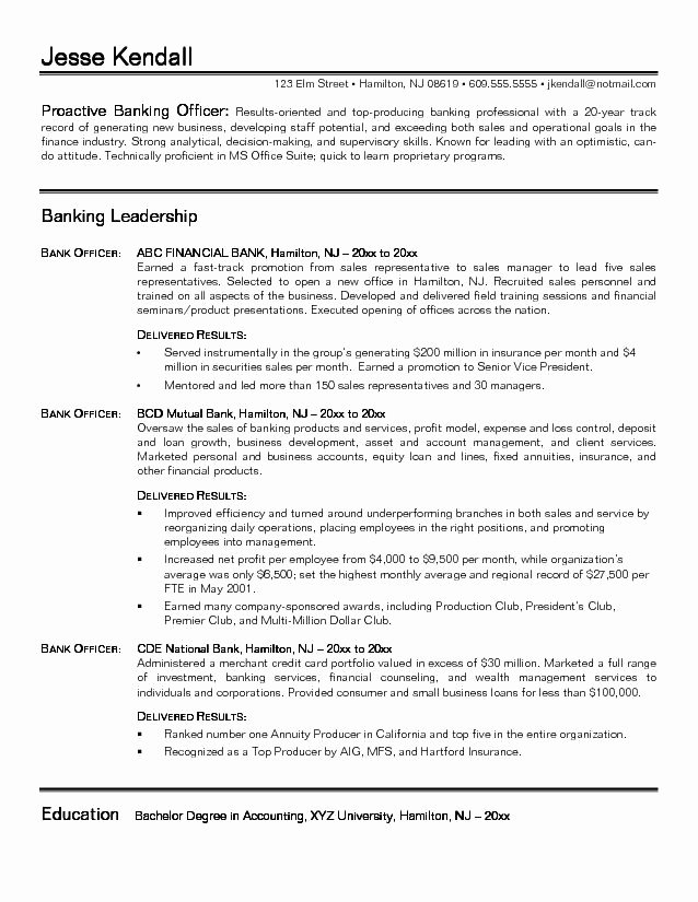 Investment Banking Resume Template Beautiful Bank Resume Samples Pelosleclaire