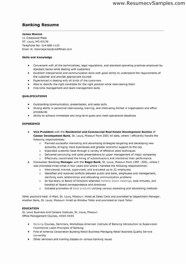 Investment Banking Resume Template Inspirational Fresh Investment Banking Resume Example