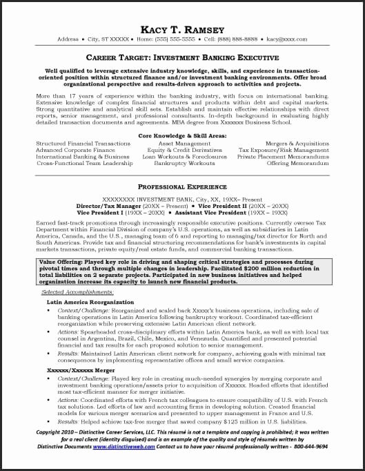 Investment Banking Resume Template Unique Investment Banking Resume Example