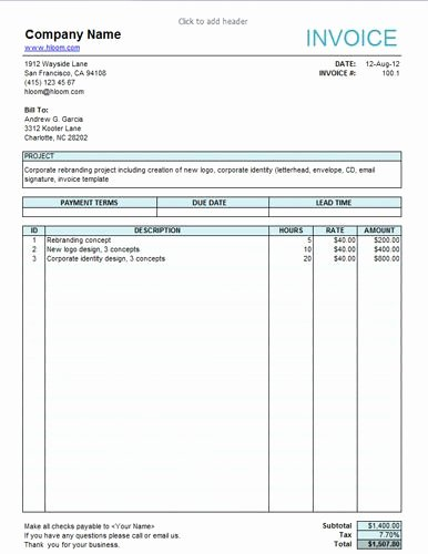 Invoice Template for Freelance Best Of Service Invoice for Freelancers Invoice