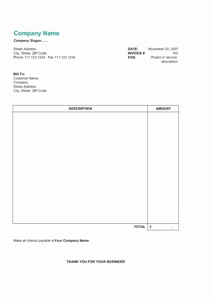 Invoice Template for Mac Best Of Excel Invoice Template Mac Download Microsoft Free for