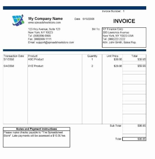 Invoice Template for Mac Lovely Invoice Template Excel Mac