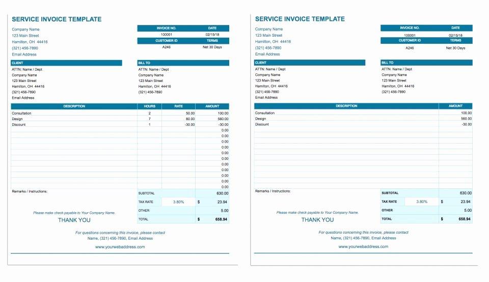 Invoice Template Google Sheets Elegant Free Google Docs Invoice Templates