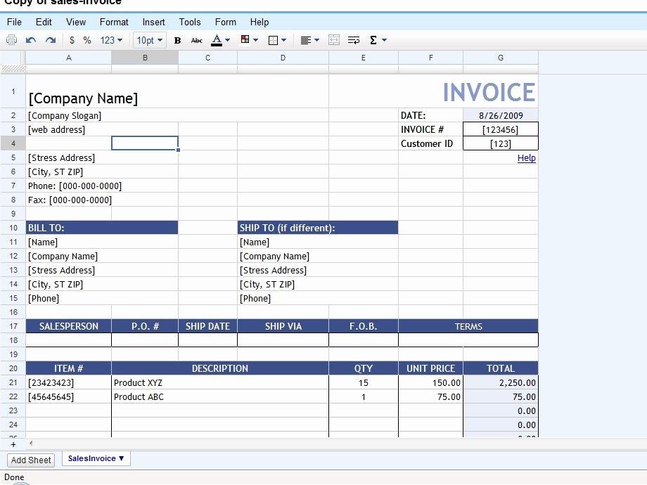 Invoice Template Google Sheets Fresh Google Sheets Invoice – Platte Sunga Zette