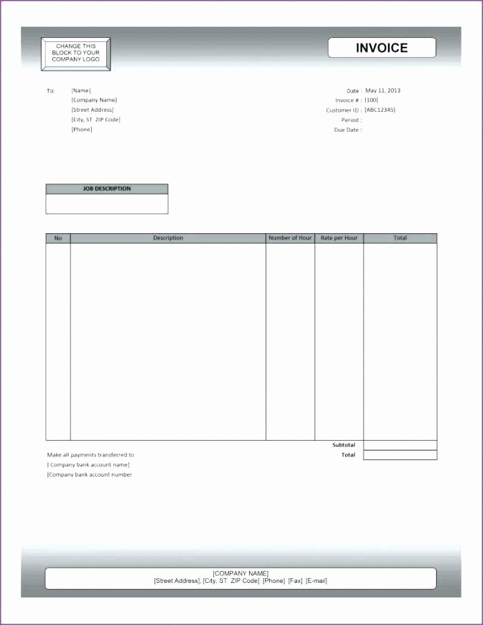 Invoice Template Google Sheets Fresh Sample Blank Invoice Template Samples Catering Empty Free