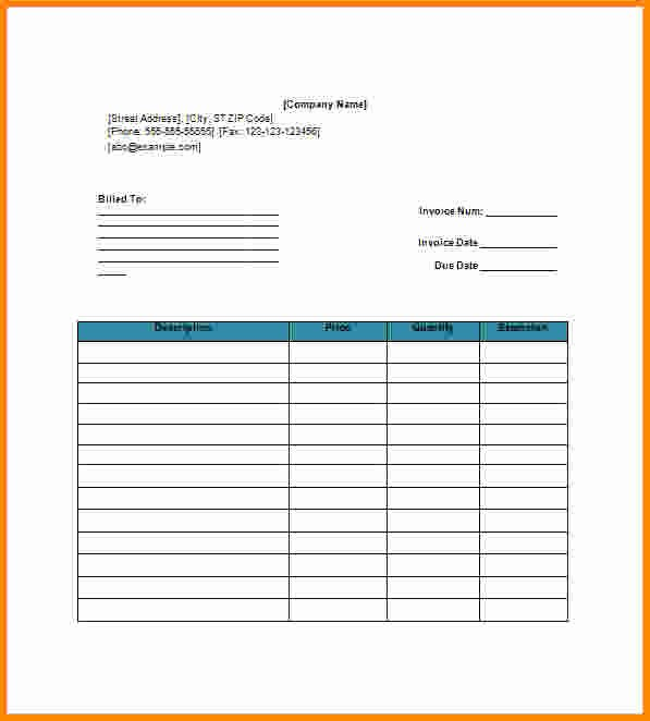 Invoice Template Google Sheets Luxury Blank Invoice Template Google Docs